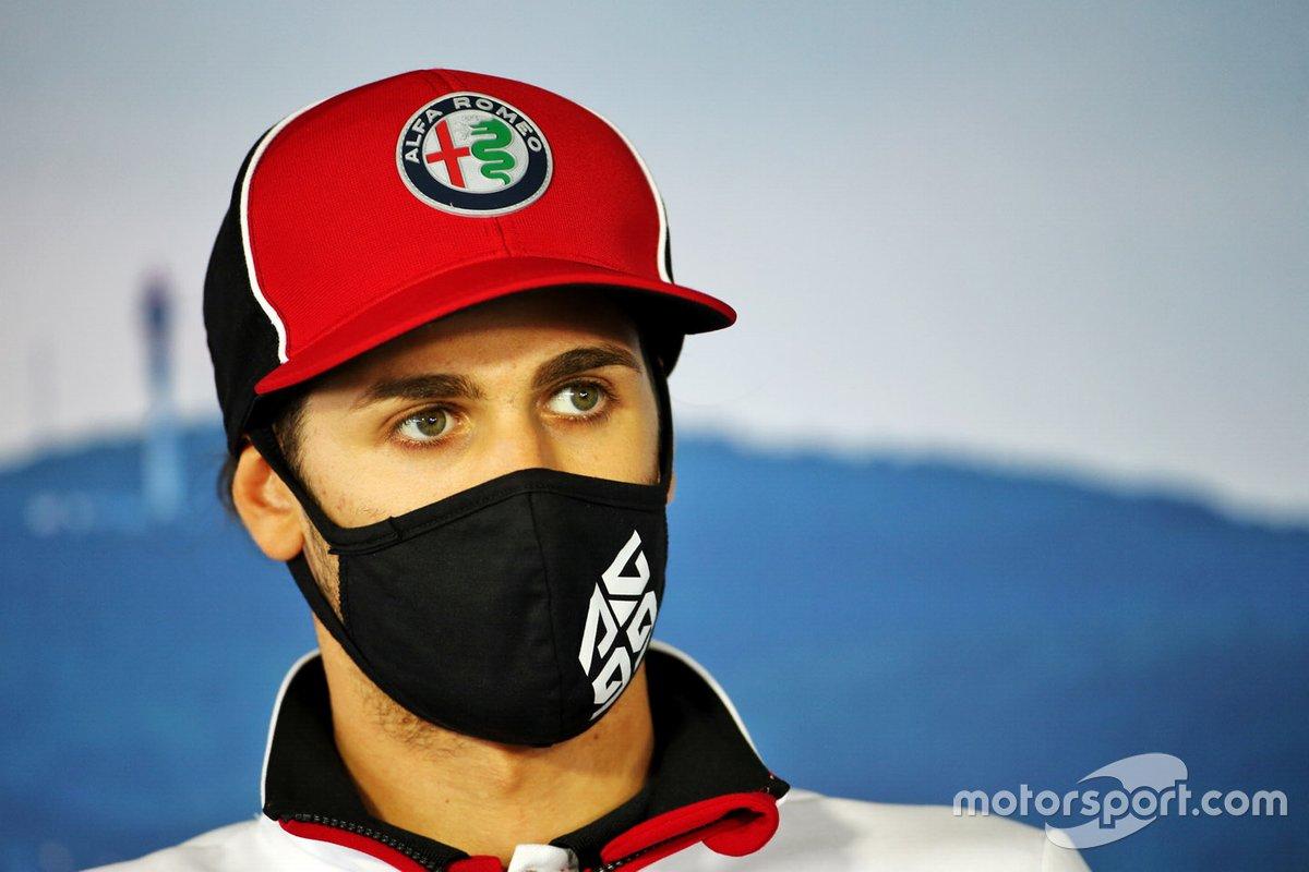 Antonio Giovinazzi, Alfa Romeo in the press conference