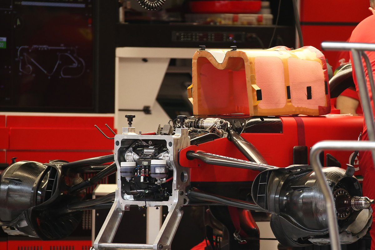 Detalle delantero del Ferrari SF1000