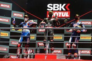 Toprak Razgatlioglu, Pata Yamaha, Jonathan Rea, Kawasaki Racing Team, Michael van Der Mark, Pata Yamaha