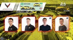 Line-up #63 Corvette Racing
