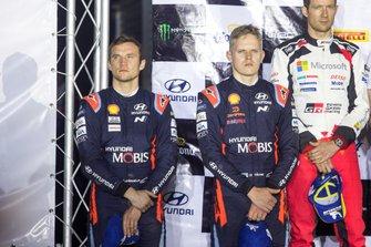 Podium: second place Ott Tänak, Martin Järveoja, Hyundai Motorsport Hyundai i20 Coupe WRC