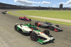 Colton Herta, Harding Steinbrenner Racing and Conor Daly, Carlin wheel-to-wheel