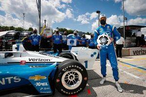Pole Winner Josef Newgarden, Team Penske Chevrolet