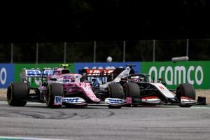 Lance Stroll, Racing Point RP20, Romain Grosjean, Haas VF-20