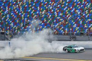 Austin Cindric, Team Penske, Ford Mustang MoneyLion celebrates his win