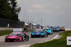 #86 Meyer Shank Racing w/Curb-Agajanian Acura NSX GT3, GTD: Mario Farnbacher, Matt McMurry, #22 Gradient Racing Acura NSX GT3, GTD: Till Bechtolsheimer, Marc Miller