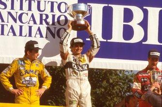 Nelson Piquet, Williams, Ayrton Senna, McLaren, Nigel Mansell, Williams, GP d' Italia del 1987