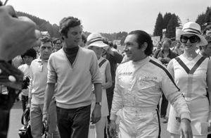 Podio: ganador de la carrera, Pedro Rodríguez, BRM