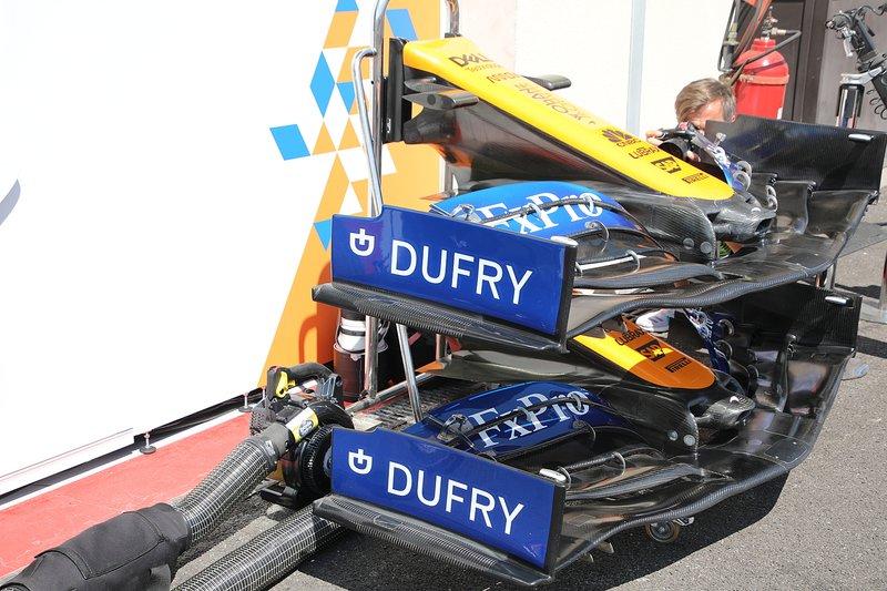 McLaren MCL34 ali frontali