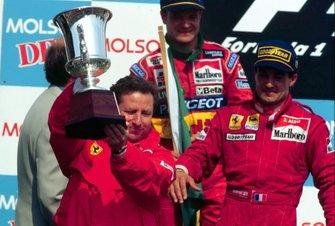Jean Todt, Ferrari y Jean Alesi, Ferrari en el podio