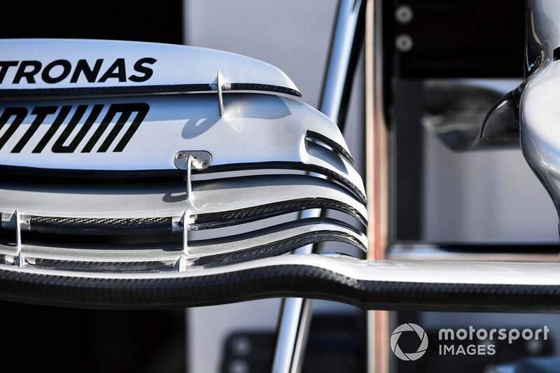 Aileron avant de la Mercedes AMG F1 W10