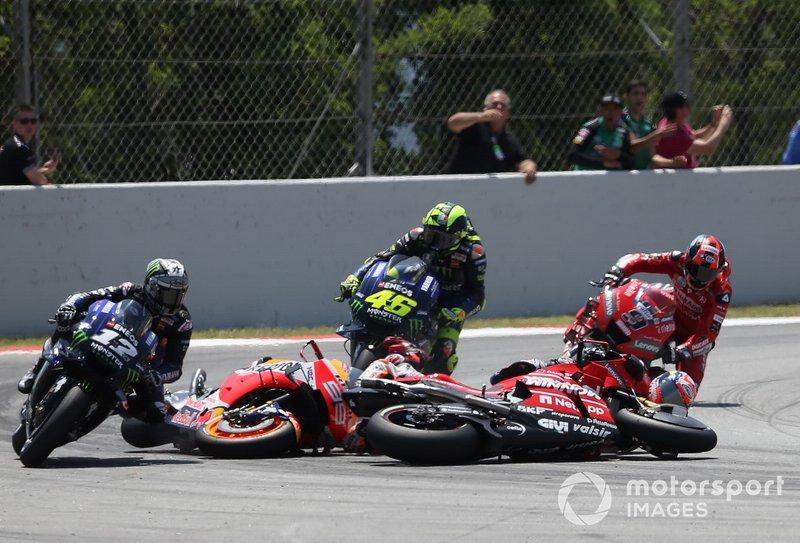 Acidente envolvendo Lorenzo, Dovizioso, Viñales e Rossi