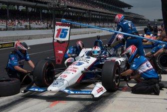 Graham Rahal, Rahal Letterman Lanigan Racing Honda, s'entraîne aux arrêts au stand