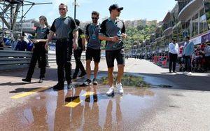 Mitch Evans, Panasonic Jaguar Racing, walks the track
