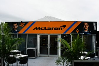 The McLaren hospitality area