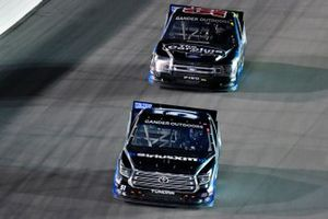 Christian Eckes, Kyle Busch Motorsports, Toyota Tundra SiriusXM and Ben Rhodes, ThorSport Racing, Ford F-150 Carolina Nut