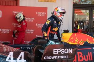Max Verstappen, Red Bull Racing, 3rd position, arrives in Parc Ferme