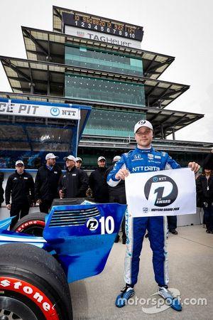 Le poleman Felix Rosenqvist, Chip Ganassi Racing Honda