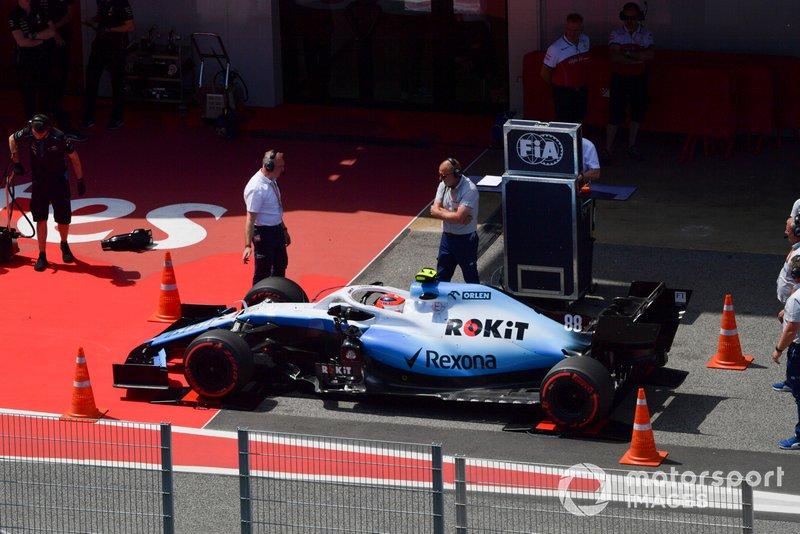 Robert Kubica, Williams FW42, ważenie samochodu