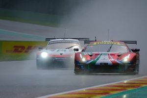 #51 AF Corse Ferrari 488 GTE EVO: Alessandro Pier Guidi, James Calado, #91 Porsche GT Team Porsche 911 RSR: Richard Lietz, Gianmaria Bruni