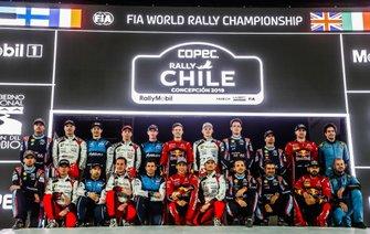 Tous les équipages du WRC