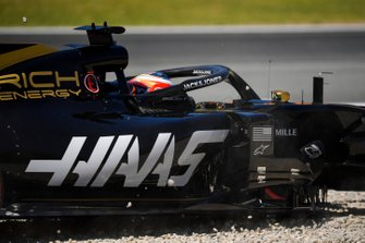 Romain Grosjean, Haas F1 Team VF-19, va largo