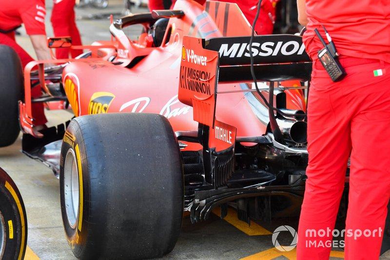 Detalle técnico del Ferrari SF90