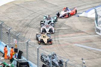 Andre Lotterer, DS TECHEETAH, DS E-Tense FE19, Maximillian Gunther, GEOX Dragon Racing, Penske EV-3, Mitch Evans, Panasonic Jaguar Racing, Jaguar I-Type 3, Jérôme d'Ambrosio, Mahindra Racing, M5 Electro