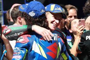 Polesitter Fabio Quartararo, Petronas Yamaha SRT, 3. Alex Rins, Team Suzuki MotoGP