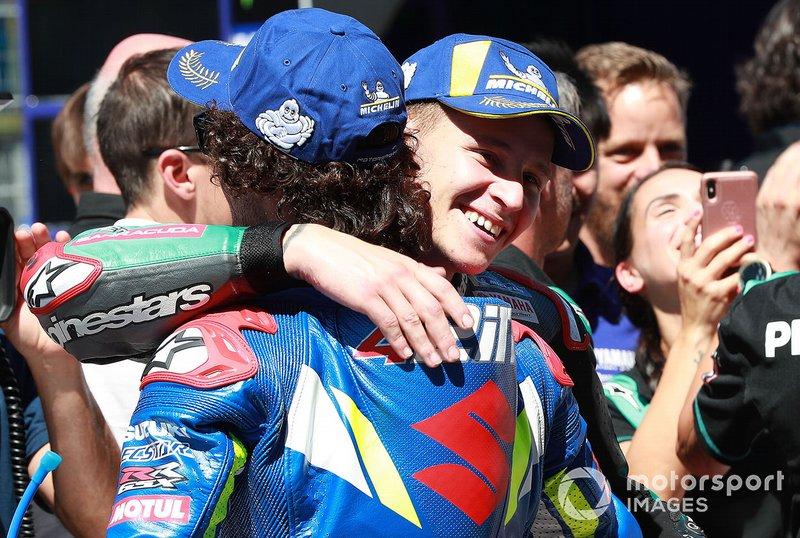 Alex Rins, Team Suzuki MotoGP, Fabio Quartararo, Petronas Yamaha SRT