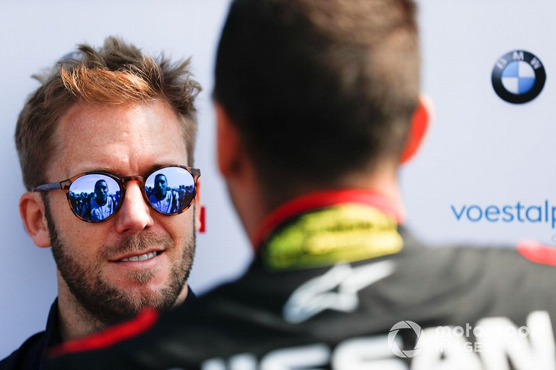 Sam Bird, Envision Virgin Racing, parla con Sébastien Buemi, Nissan e.Dams