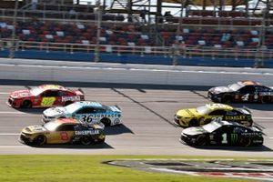 Daniel Hemric, Richard Childress Racing, Chevrolet Camaro Caterpillar and Kurt Busch, Chip Ganassi Racing, Chevrolet Camaro Monster Energy