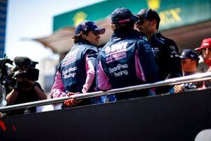 Lance Stroll, Racing Point, Sergio Pérez, Racing Point, y Robert Kubica, Williams Racing