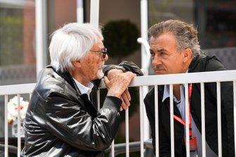 Bernie Ecclestone, Chairman Emiritus of Formula 1 and Jean Alesi