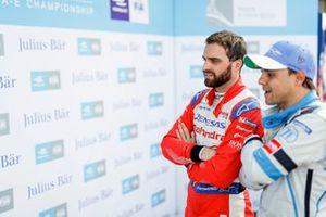 Jérôme d'Ambrosio, Mahindra Racing, watches the times with Felipe Massa, Venturi Formula E