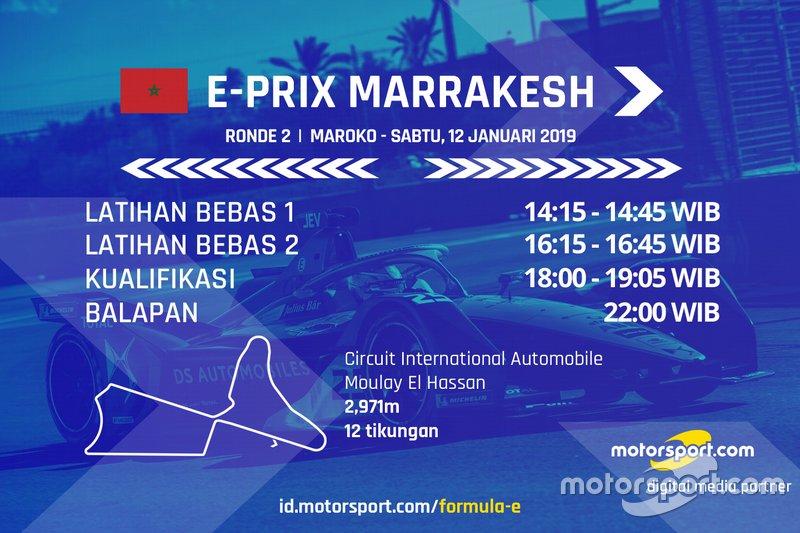 Jadwal Formula E E-Prix Marrakesh