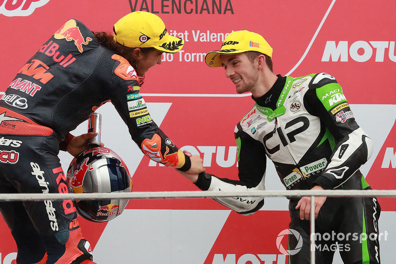 Podio: ganador, Can Oncu, Red Bull KTM Ajo , tercero, John McPhee, CIP Green Power