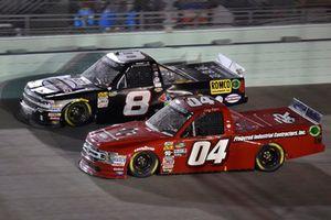 Cory Roper, Roper Racing, Ford F-150 Preferred Industrial Contractors Inc. and John Hunter Nemechek, NEMCO Motorsports, Chevrolet Silverado