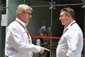 Ross Brawn, Formula One Managing Director of Motorsports and David Croft, Sky TV Commentator