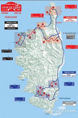 Tour de Corse 2019 haritası