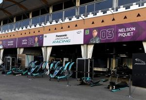 Jaguar Racing garages in the pit lane