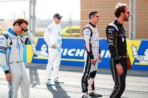 Фелипе Масса, Venturi Formula E Team, Стоффель Вандорн, HWA Racelab, Себастьен Буэми, Nissan e.dams, и Жан-Эрик Вернь, DS Techeetah Formula E Team