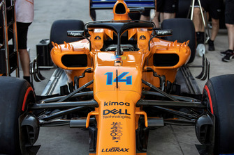Special livery on Fernando Alonso, McLaren MCL33