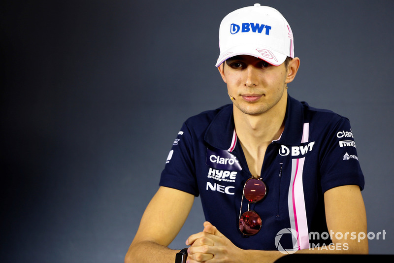 Esteban Ocon, Racing Point Force India, in the press conference