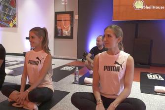 Julia Piquet y Elba Navarro ejercicios