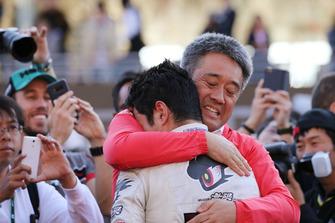 山本尚貴(TEAM MUGEN)、山本雅史モータースポーツ部長