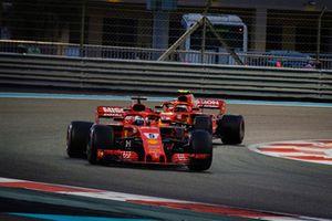 Sebastian Vettel, Ferrari SF71H voor Kimi Raikkonen, Ferrari SF71H