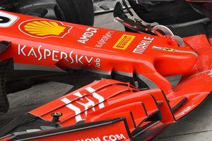 Vue détaillée du nez de la Ferrari SF-71H
