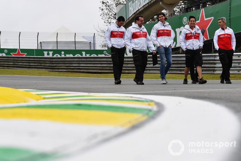 Ознакомление с трассой: Антонио Джовинацци, Alfa Romeo Sauber