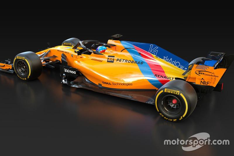 McLaren MCL33 con decoración especial para la despedida de Fernando Alonso, en 2018